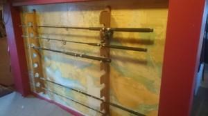 rods in new rack