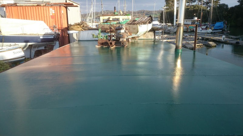 first coat of deck paint